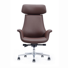 New Design Modern Genuine Leather High Back CEO Boss Office Swivel Chair
