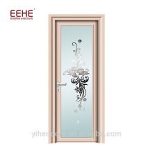 Bathroom frosted glass panel aluminum door