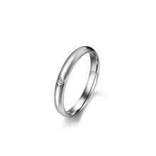 Fashinalble single crystal ring,meaningful silver ring