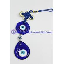 Lucky Wall Hanging/Car Hanging Evil Eye Blue Glass Amulet Charm