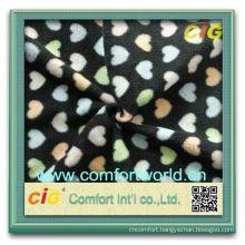 Fashion new design fdy aop polyester polar wholesale high quality fleece fabric