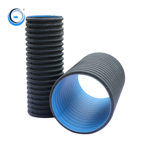 200mm specifications large diameter corrugated drainage polyethylene pipe roll
