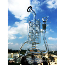 Wholesale Inline 3 Layers Recycler Glass Pipe