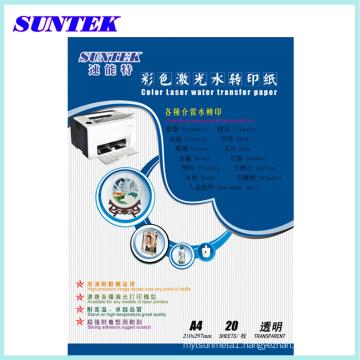 Transparent Water-Based Laser Water Transfer Paper, Decal Paper, Melamine Papel Transfer, Transfer Printing Paper Papier Transfert Ceramic Decals