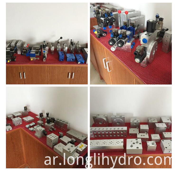 Customized Aluminum Hydraulic Valve Manifold Block