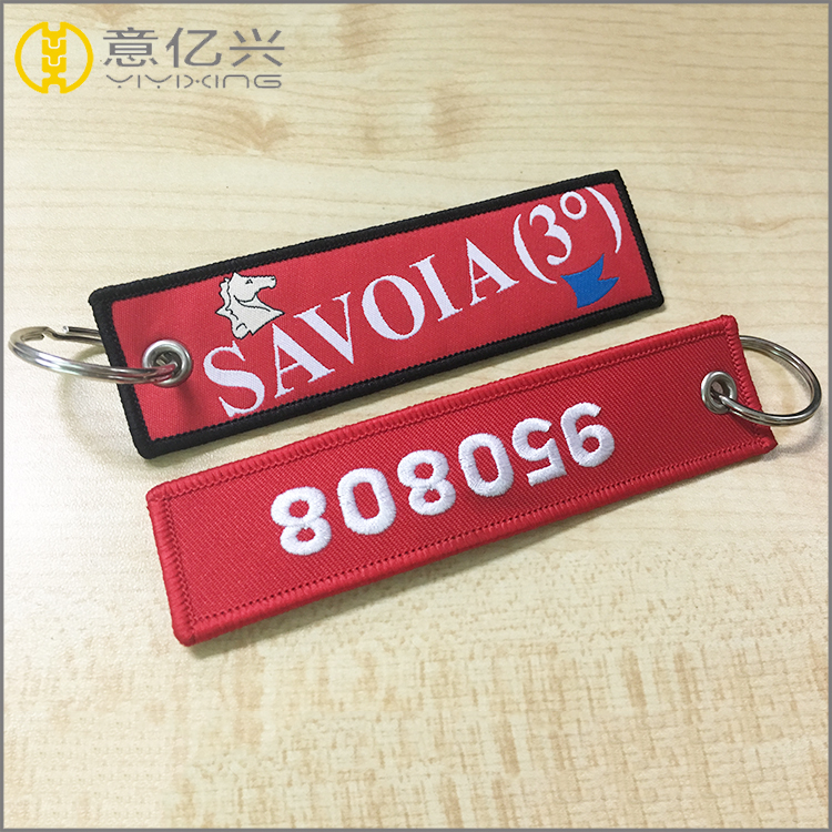Polyester Embroidered Key Tag