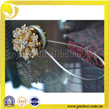 Cortina clips con diamante de flores para la decoración del hogar