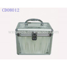 high quality 120 CD disks aluminum cd holder with clear acrylic panel as walls wholesale