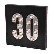 Lumière LED en bois du Black Age pour décoration intérieure