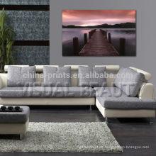 Impresiones de la lona del paisaje del lago Impresión de la pared del interior