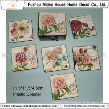 Europe Rose Design PVC Coaster