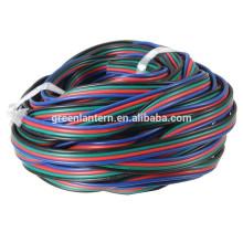 Corde de câble de fil d'extension de PIN 4 RVB pour la lumière de bande de 3528/5050 RVB LED