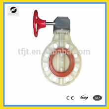 CWX-series UPVC/PVC hand wheel wafer butterfly valve