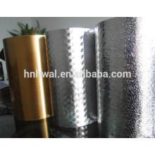 Papier en aluminium imprimé et gaufré en décoration