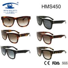 Gafas de sol de moda del acetato del estilo de la mujer (HMS450)
