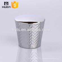 Chapeau d'extrémité décoratif de zamac de ruban de la meilleure vente pour la bouteille en verre de parfum