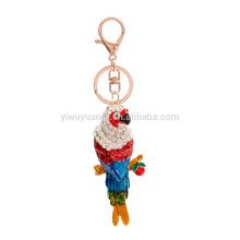 Factory Wholesale Zinc alloy chain metal parrot key chain Gift