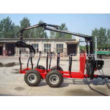 Registro de ATV remolque con grúa para Tractor