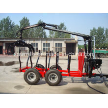 ATV Log Trailer with Crane for Tractor