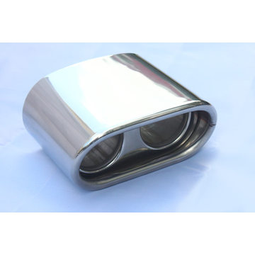 Dos puntos de venta Oval Shape Twins Exhaust Tips