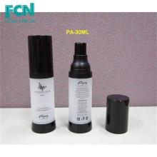 30ml plastic bottle airless pump luxury bottle cosmetic packaging black screen printing