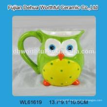 Ceramic milk jug with ow design