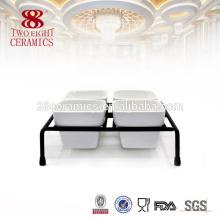 Porcelana cerâmica branca buffet servindo pratos quadrado chafing prato