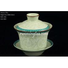Tang Cao (diseño de la flor de la dinastía Tang) Gaiwan 150cc