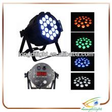 18 * 3w 3in1 Quad Farbe LED par 64 Licht, Druckguss Aluminium, 7 DMX Kanäle / Beleuchtung par rgb führte 3W Tri