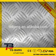 Stucco Embossed Bright surface diamond pattern aluminium sheet