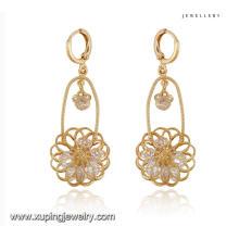 91702 moda fantasia cz diamante 18k cor de ouro imitação de jóias brinco gota