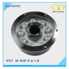 Hot Sales 9W IP67 LED Fountain Light with Stainless Steel Lamp Body