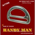 A7750 Forged Aluminium Big Single Slot D ring