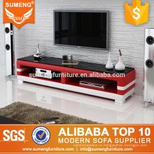 современная китайская мебель для гостиной наборы стекла телевизор стенд ПВХ