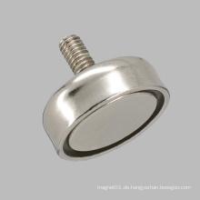Out Thread Pem Nut Round Base Magnet Neodym Pot Pot