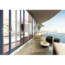 Mittelmeer-Balkon Aluminium-Glas Große Schiebetür, wasserdicht, rostfrei und Korrosionsbeständigkeit Türen