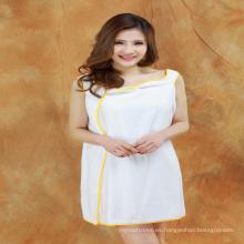 100% algodón mujeres toalla de baño suave vestido de playa vestido de baño vestido hotel toalla de baño