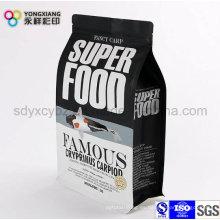 Bolsa de plástico de embalaje de alimentos para animales de compañía con Ziplock