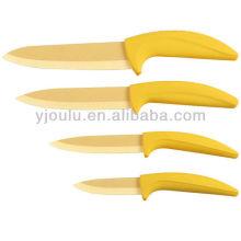 OL016 Керамический нож с цветным лезвием и ручкой из TPR