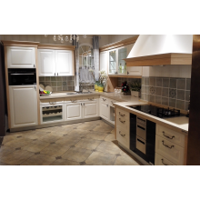 White Painted Panel Kitchen Cabinet