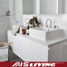 Gabinetes de baño colgados de la pared blanca de Laquer para la casa (AIS-B021)