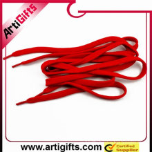 Red polyester braided ribbon shoe laces