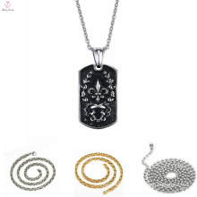 Custom Gold Plated Stainless Steel Necklace Chain, Punk 316L Pendant Stainless Steel Necklace