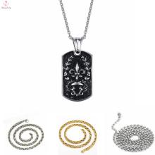Изготовленные на заказ позолоченные цепи ожерелье из нержавеющей стали панк Кулон нержавеющей стали 316L ожерелье из нержавеющей стали