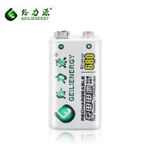 high capacity work more durable 680mah rechargeable battery li ion battery 9v battery