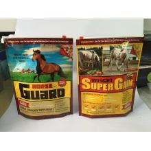 Saco de empacotamento de alimentos para cavalos com fecho deslizante