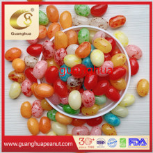 Sweet Jelly Beans with Various Color Mixed