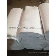 Tissu blanc 100% coton pour textile domestique