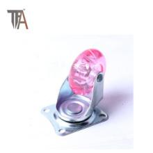 Hardware Accesorios de muebles Rueda de rueda de cristal