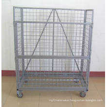 Wire Mesh Container with Wheel (SLL07-L009)